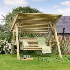 Swing Chair Garden Uk Compact Camp 2 Seat Wooden Hammock Bench Furniture Lounger