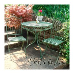 Green Metal Bistro Chairs Buy Folding Livorno Wrought Iron Set Table And 2