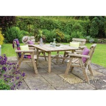Zaragoza Solidwood Outdoor Furniture Dining Set -table & 4