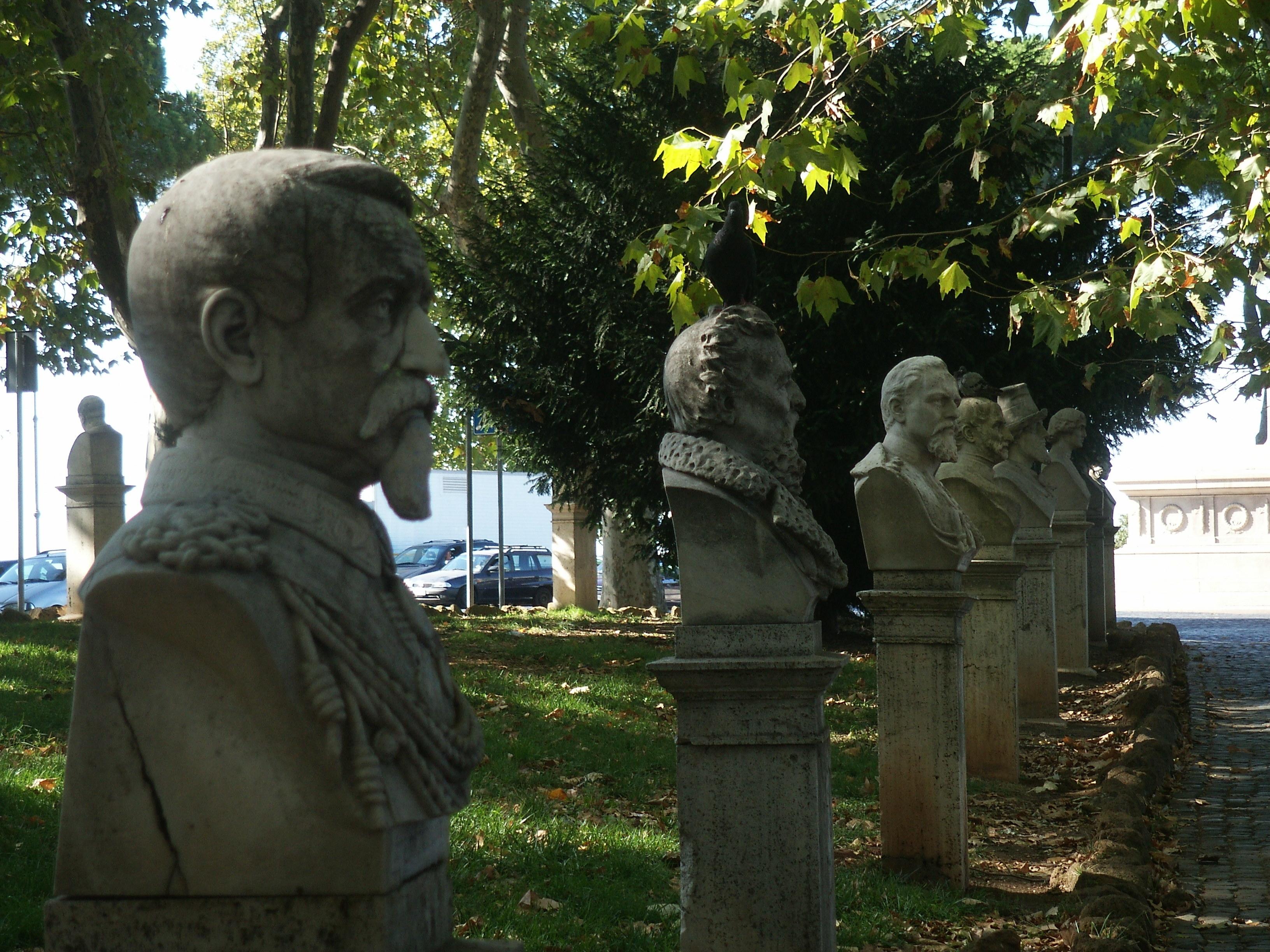PASSEGGIATA DEL GIANICOLO PROMENADE OF THE JANICULUM  Parchi ville e giardini di Roma e dintorni