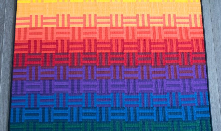 Rainbow Variation Mini Quilt!