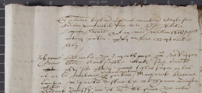 Old document written in secretary hand