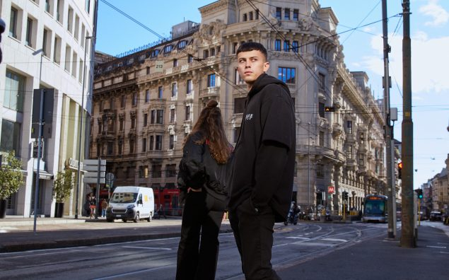 black jeans in Milan