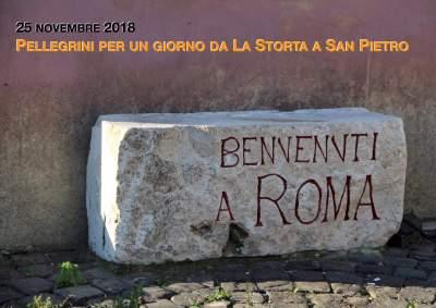 25 novembre, pellegrini per un giorno. Da La Storta a San Pietro