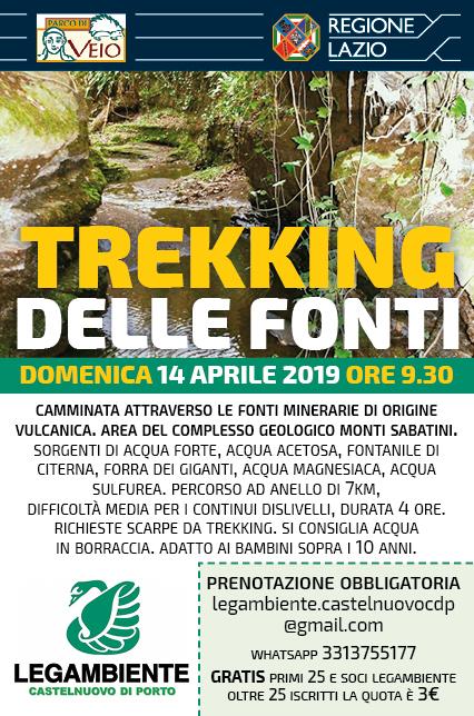 14 aprile, trekking delle fonti a Castelnuovo