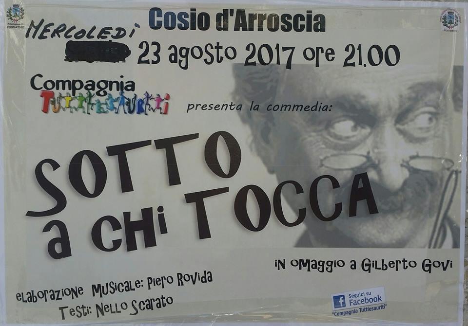 23 agosto – Serata Gilberto Govi a Cosio