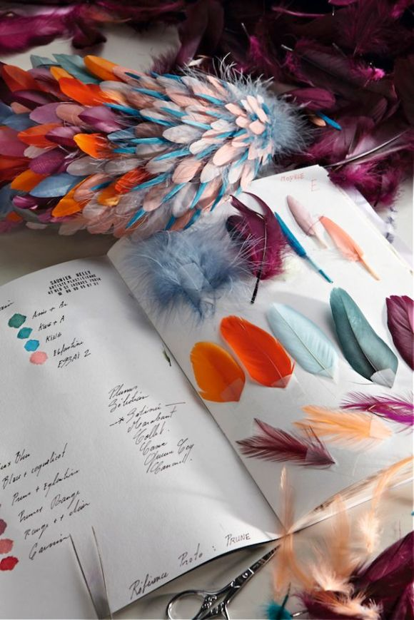 Featherwork, Nelly Saunier - Photo Pinterest
