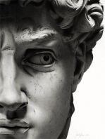 David par Michelangelo 1504 (détail) marbre carrara, Florence