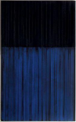 Pierre Soulage, Peinture 222/137cm, 3 février 1990 - Photo Pinterest