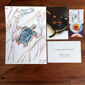 Dessin Solenn Larnicol, carte de visite la Baïta/Miss Banh Mí/Blog Démoule ton cake