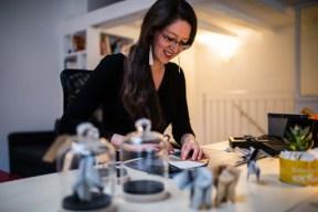 Floriane dans son atelier - Photo Florigami
