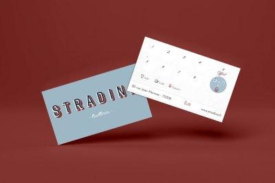 Carte de fidélité Stradina, réalisée par l'agence digitale Pardalys.