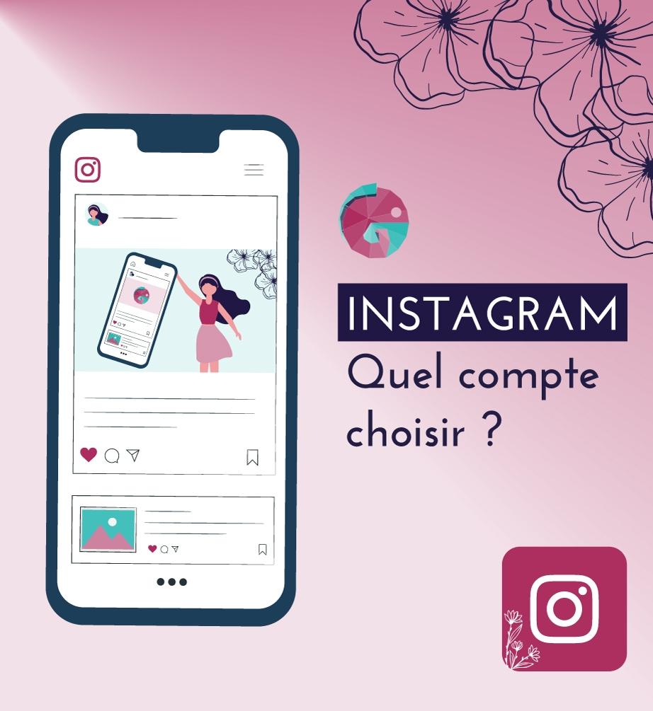 Vignette article Instagram, différence entre compte professionnel et personnel