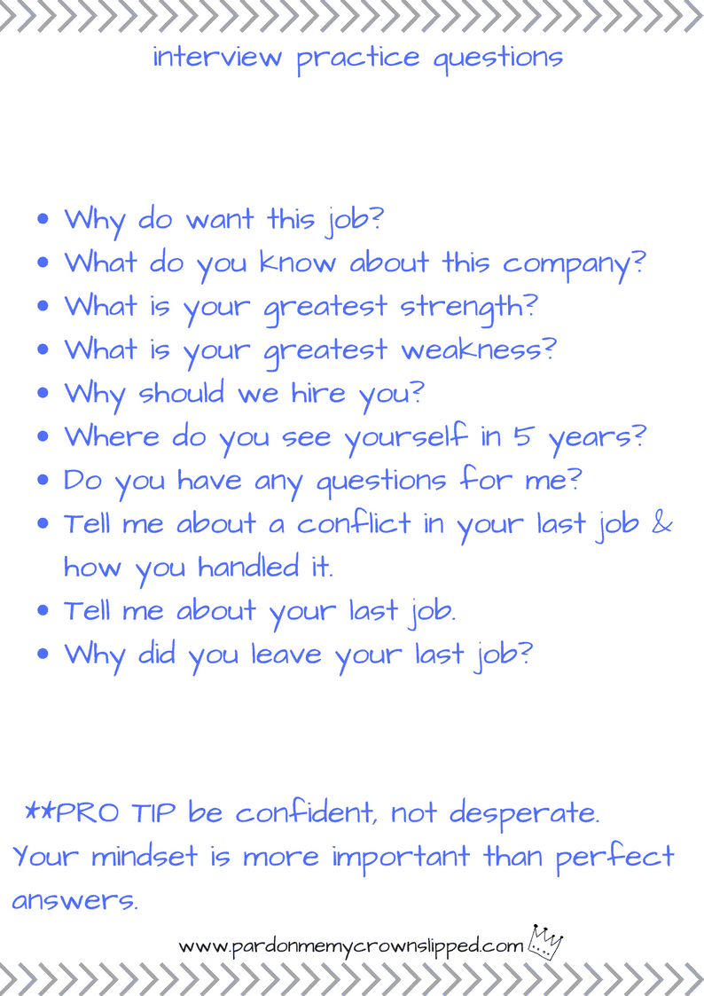 interview practice questions