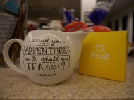 Day 194 - Let the Sarah and Glen Great T2 Tea Adventure begin!