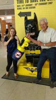 Day 201 - Two of my heroes arrive! (By that I mean Grandad and Nana but hey Batman's cool too) ;)