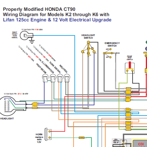 Honda CT90 with Lifan 12 Volt Engine Wiring Diagram  Home