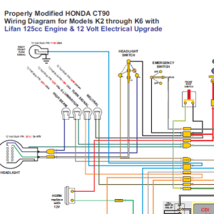 Honda CT90 with Lifan 12 Volt Engine Wiring Diagram  Home