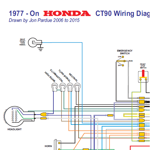 Honda CT90 Wiring Diagram 1977 On All Systems Home Of The Pardue
