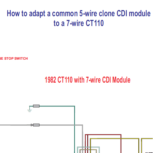 1974 ct70 wiring diagram fender stratocaster wire honda ct110 5 clone cdi module to a 7 - home of the pardue brothers
