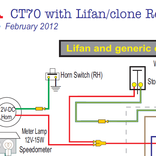 Honda CT70 Lifan & Clone Engine 12 Volt Wiring Diagram Home Of