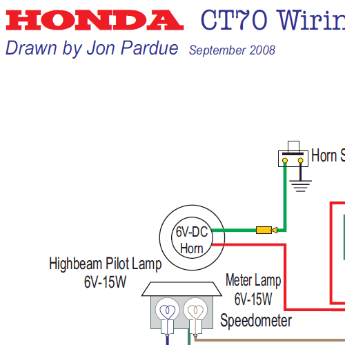 Honda Motorcycle Headlight Wiring Diagram 5 Honda Ct70 Wiring Diagrams Home Of The Pardue Brothers
