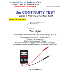 6 Pin Cdi Wiring Diagram Golf 3 Sunroof Continuity Testing Test Light Vs Multimeter How To - Home Of The Pardue Brothers