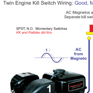 Twin Engine Minibike Kill Switch Wiring  Home of the