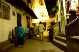 Street Life at Night Stone Town