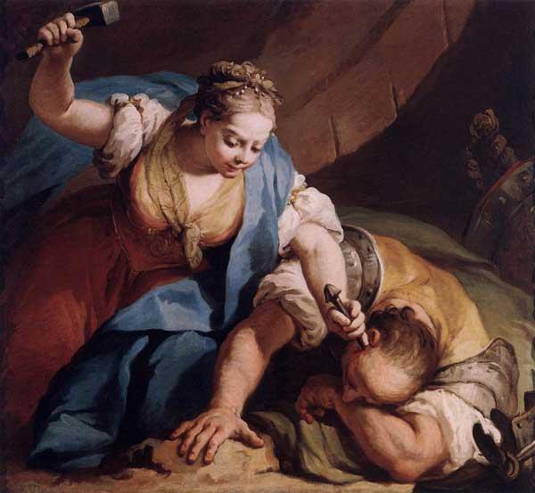 Jael met de tentpin voor Sisera