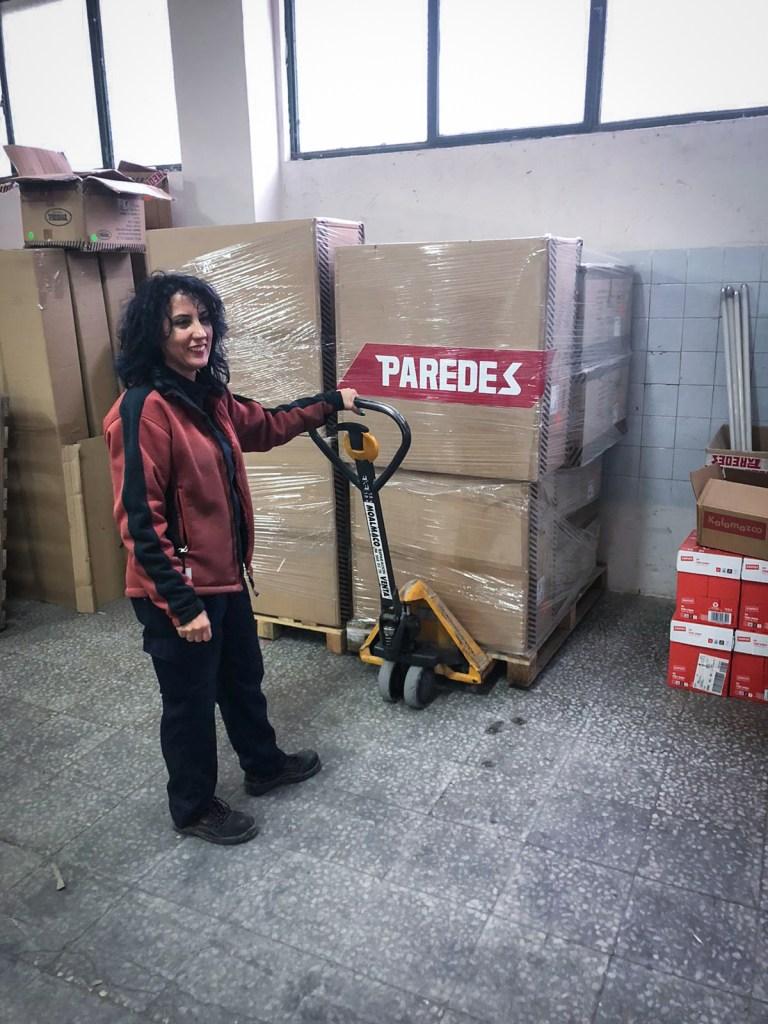Donación de Calzado hospitalario crisis covid19 desde Paredes