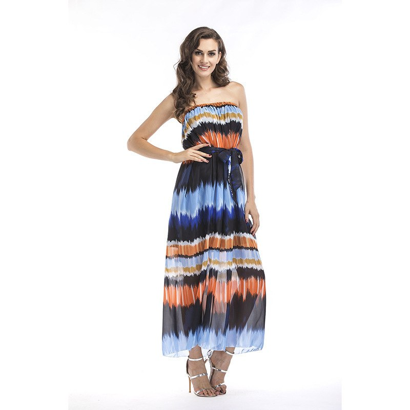 6bd1ad7c5a953 MODENGYUNMA big size S-6XL maternity bohemian Dress Pattern Chiffon summer  Pregnant Woman long dress pregnancy clothes vestido