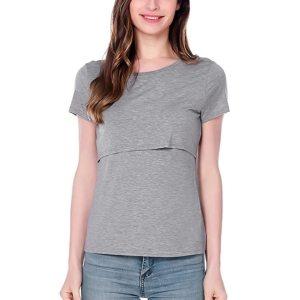 1a36135a087 MUQGEW Moms Fashion Pregnancy Maternity Clothes Maternity Tops T-shirt  Breastfeeding Shirt Nursing Tops for Pregnant Women