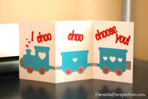 Choo Choo Train Valentine's Day Card