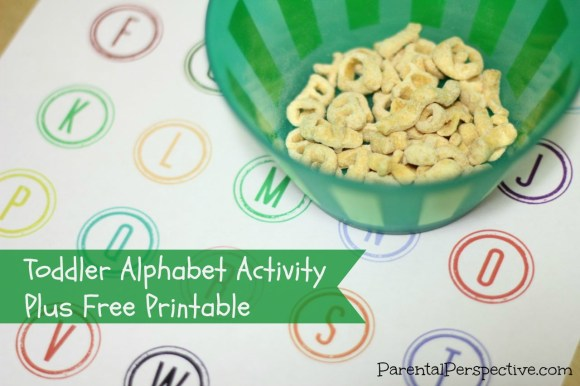 Toddler Alphabet Activity Plus Free Printable | Parental Perspective