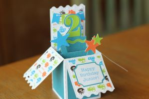 Boy's Birthday Box Card