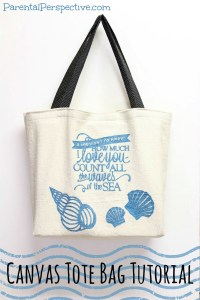 Canvas Tote Bag Tutorial