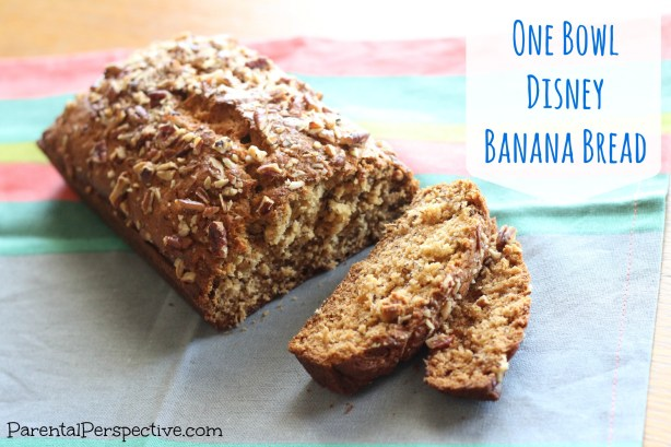 Quick Disney One Bowl Banana Bread Recipe | Parental Perspective