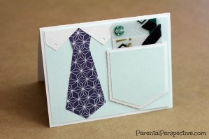 Congratulations Tie Card With Giftcard Pocket