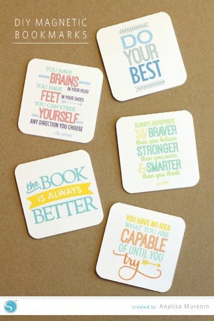 These easy to make magnetic bookmarks are perfect for back to school.