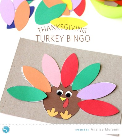 Turkey bingo game created with the Silhouette
