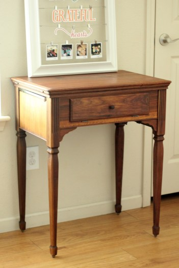 Rescued vintage sewing table