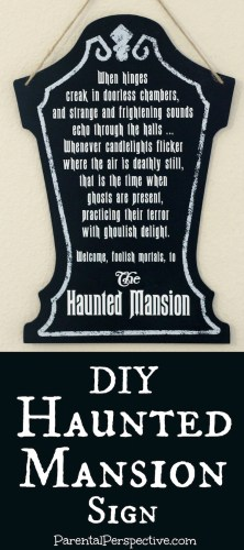 DIY Haunted Mansion Sign | ParentalPerspective.com