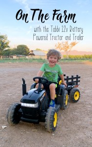 Tobbi 12v Battery Powered Ride On Tractor With Trailer