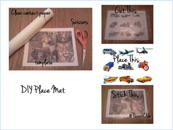Make Your Own Place Mat For Kids via www.parentclub.ca