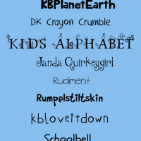 Free Fonts Children's Hand
