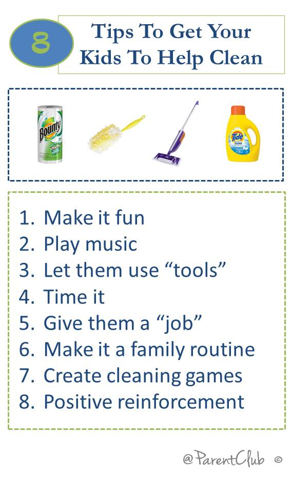 Tips to get your kids to help clean