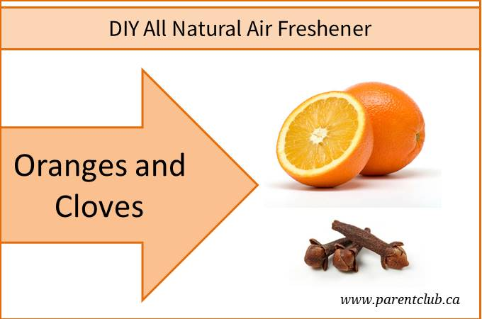 DIY All Natural Air Freshener Oranges and Cloves via www.parentclub.ca