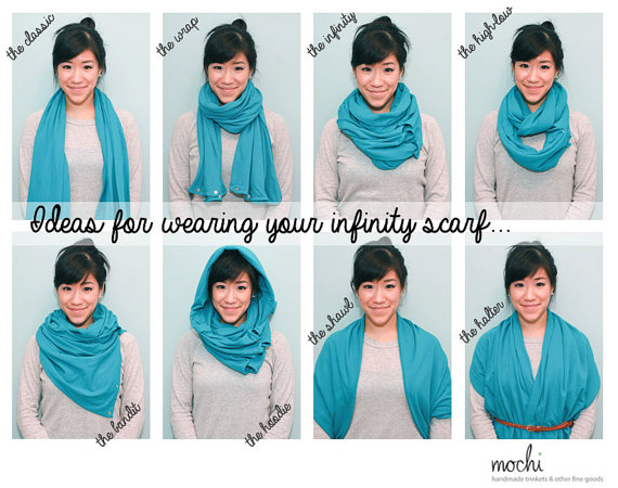 Multi wear infinity scarf parent club multi wear infinity scarf how to wear an infinity scarf ccuart Image collections