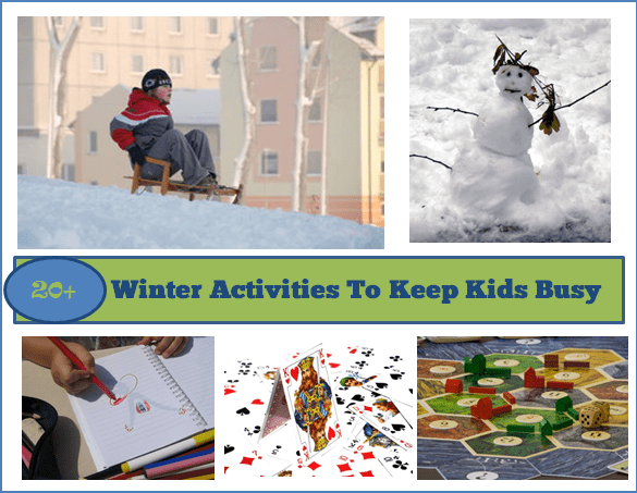 20+ Winter Activities To Keep Kids Busy